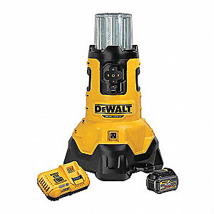 FLEXVOLT™ Cordless Site Light, 20.0 Voltage, LED, 3000/7000 Lumens, Battery Included