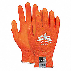 Cut Resistant Gloves,A4,M,Orange,PR