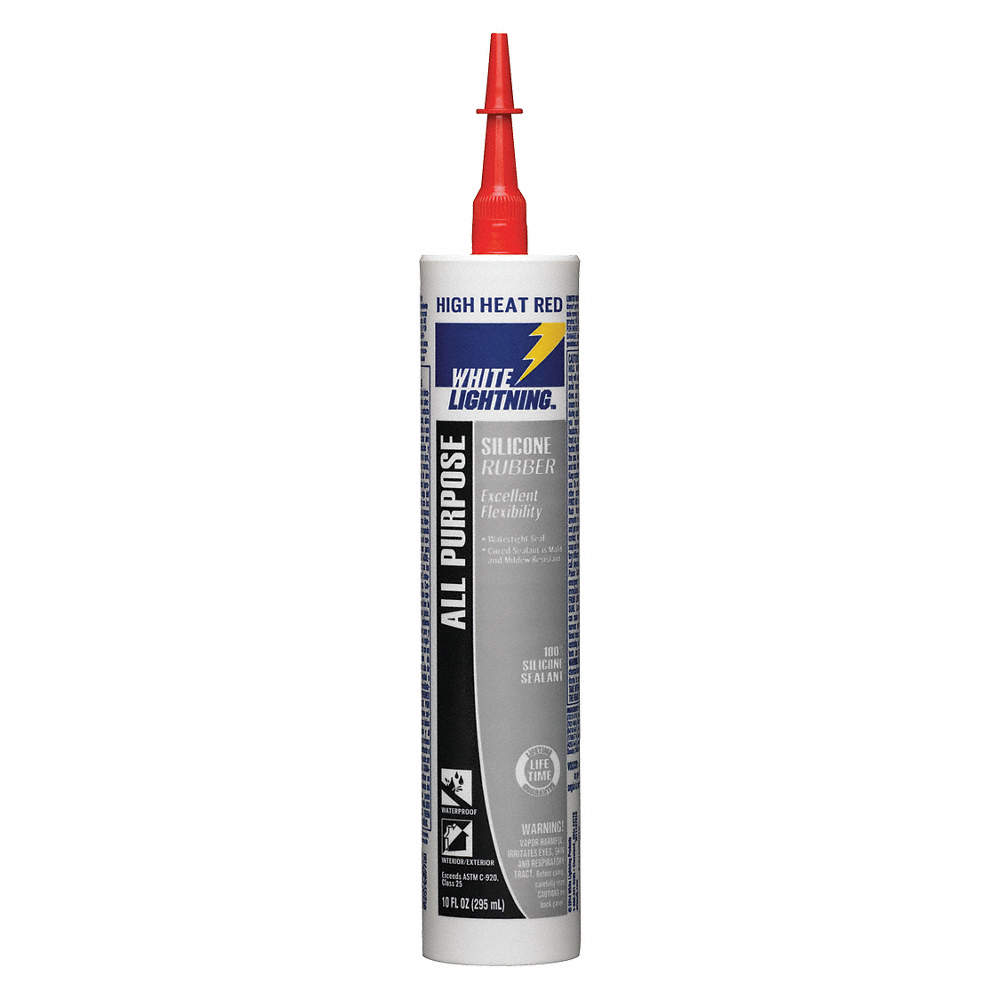 High Temp Sealant >> High Temp Rtv Silicone Sealant 500 F Temp Range Full Cure 24 Hr Red 10 Oz