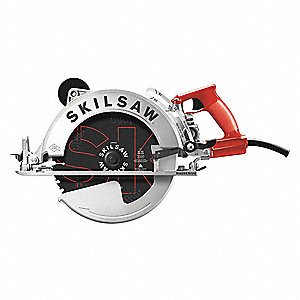 "10-1/4"" Worm Drive Circular Saw, 4600 No Load RPM, 15.0 Amps, Blade Side: Left, 120"