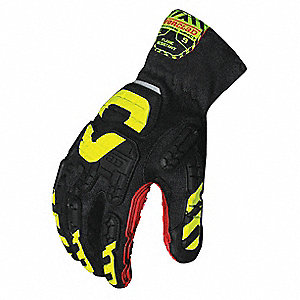 Anti-Vibration Gloves, Vibram™ Vulcanized Rubber Palm Material, Black, Red, Hi-Visibility Yellow, 1