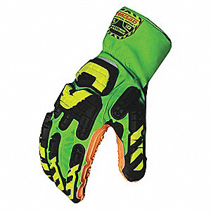 Anti-Vibration Gloves,2XL,Full Finger,P