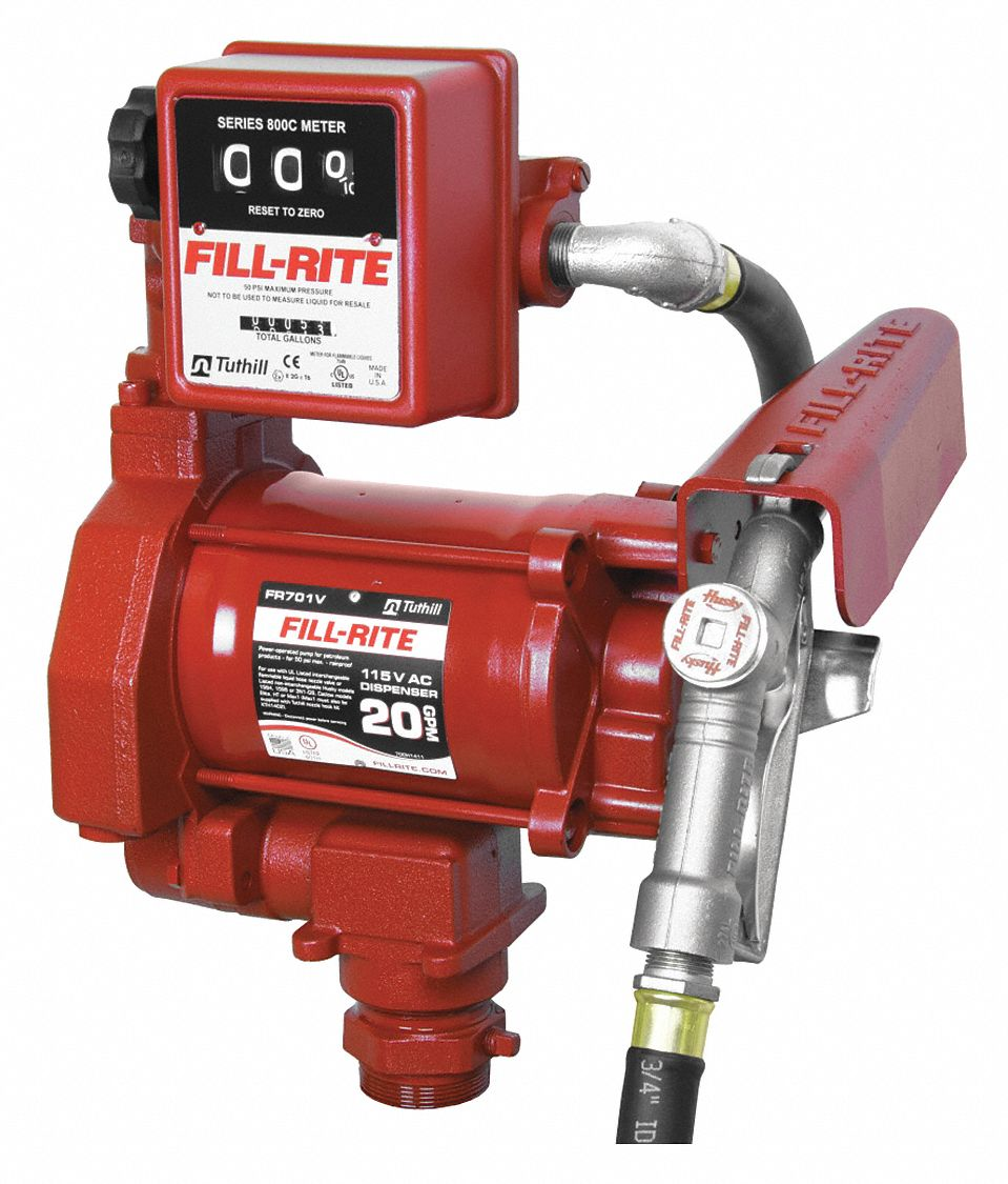 FILL-RITE 1/3 HP Cast Iron Rotary Vane Fuel Transfer Pump ...