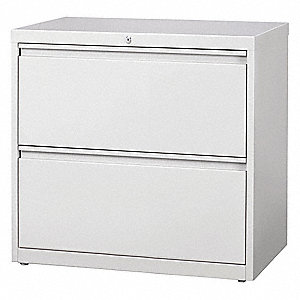 30 X 18.63 X 28 2 Drawer HL10000 Series Lateral File Cabinet, Light Gray
