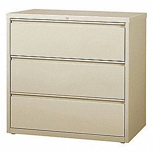 lateral file cabinet. 42 X 18.63 40.3 3-Drawer HL8000 Series Lateral File Cabinet, Putty Lateral File Cabinet A