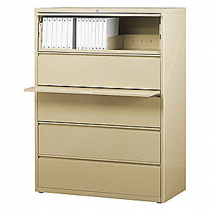 42 x 18.63 x 67.63 5-Drawer HL8000 Series Lateral File Cabinet, Putty