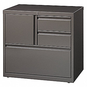 30 x 18.63 x 28 3-Drawer HL8000 Series Storage Cabinet, Medium Tone