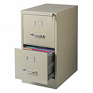 15 X 22 28 38 2 Drawer Deep Verticals Series Vertical File Cabinet Putty