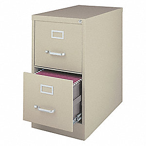15 x 26.5 x 28.38 2-Drawer 3000 Series Verticals Series Vertical File Cabinet, Putty