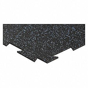 BRAVA X Rubber Floor Tile Calypso Blue YE - 12 x 12 rubber floor tiles