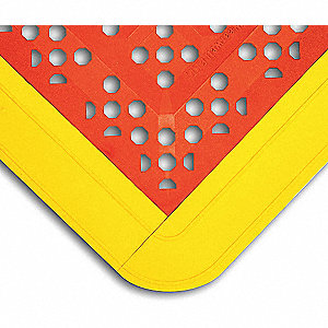 "Interlock Drainage Mat,Red,2ft.3""x3ft.6"""