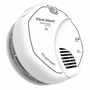 "5"" Smoke Alarm with 85dB @ 10 ft. Audible Alert&#x3b; (2) AA Batteries"