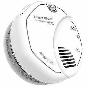 "5"" Carbon Monoxide Alarm with 85dB @ 10 ft. Audible Alert&#x3b; (2) AA"