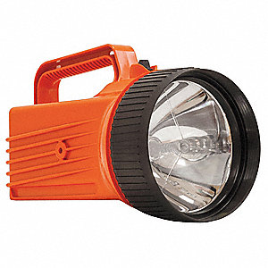 LED Industrial Lantern, Polymer, Maximum Lumens Output: 90, Orange, 8.25""