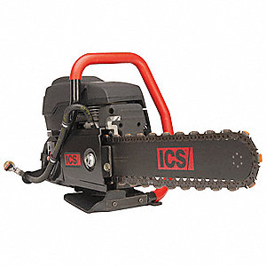 6.4 HP Ductile Iron and Cast Iron Chain Saw, Bar Length 16""