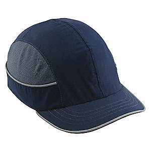 Navy ABS Vented Bump Cap, Style: Front Brim, Fits Hat Size: One Size Fits Most