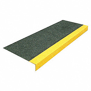 FRP STEP COVERS BLKYLW 48 X 10