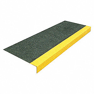FRP STEP COVERS BLKYLW 48 X 13.5
