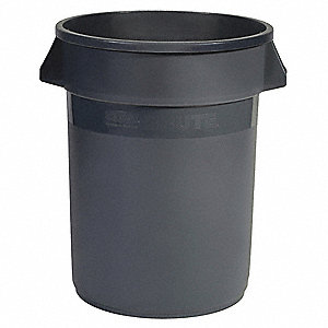 Food-Grade Waste Container,10 gal.,Gray
