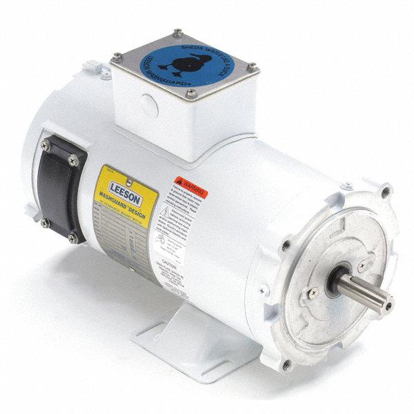 Leeson 1 2 Hp Dc Washdown Motor Permanent Magnet Dc 1750