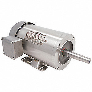2 HP Washdown Close Coupled Pump Motor,3-Phase,1745 Nameplate RPM,230/460 Voltage,Frame 145JM