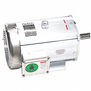 10 HP Washdown Motor,3-Phase,1765 Nameplate RPM,230/460 Voltage,Frame 215T