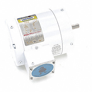 1/2 HP Washdown Motor,3-Phase,1725 Nameplate RPM,230/460 Voltage,Frame 56C