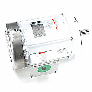 10 HP Washdown Motor,3-Phase,3525 Nameplate RPM,230/460 Voltage,Frame 215TC