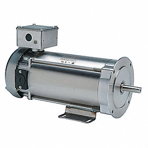 3/4 HP DC Washdown Motor DC Permanent Magnet,1750 Nameplate RPM 180VDC Voltage 56C Frame