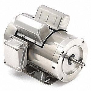 leeson 1 1 2 hp washdown motor capacitor start run 1725. Black Bedroom Furniture Sets. Home Design Ideas