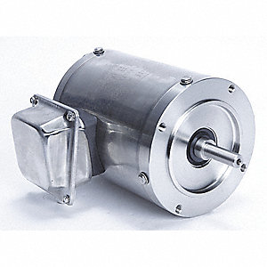 1/3 HP Washdown Motor,3-Phase,1740 Nameplate RPM,230/460 Voltage,Frame 56C
