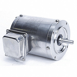 1/2 HP Washdown Motor,3-Phase,1140 Nameplate RPM,230/460 Voltage,Frame 56