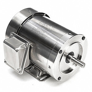1 HP Washdown Motor,3-Phase,3450 Nameplate RPM,230/460 Voltage,Frame 56HC