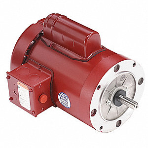 1 HP High Torque Farm Duty Motor,Capacitor-Start,1725 Nameplate RPM,115/230 Voltage,Frame 56C