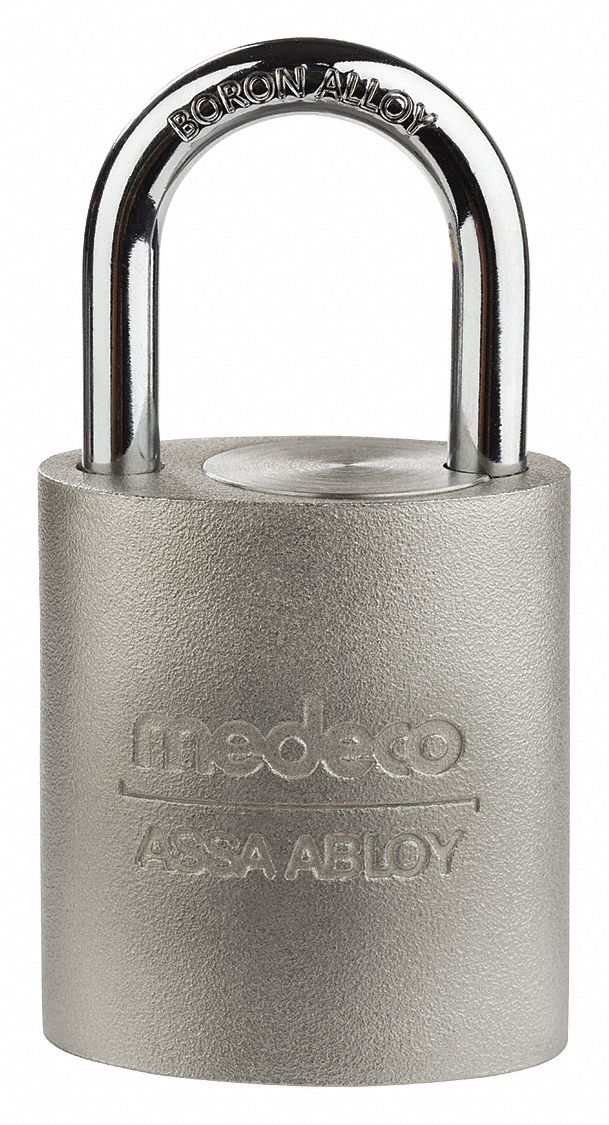 Keyed Different,  Padlock,  Stainless Steel,  Shackle Type Long Shackle