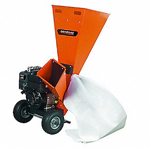 "24"" x 39-1/2"" x 47"" Gas Powered Chipper Shredder with 3"" Chipping Capacity"