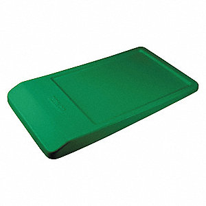 "Green MDPE Non-Hinged Hopper Lid, 55-1/2"" L X 31"" W, 13.6 cu. ft. Capacity"