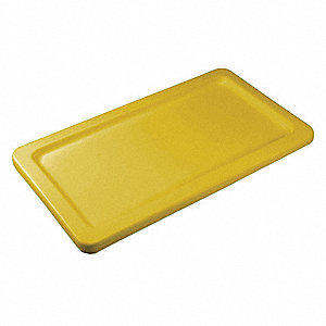 "Yellow MDPE Non-Hinged Hopper Lid, 47"" L X 26-1/2"" W, 10.2 cu. ft. Capacity"