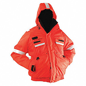 "Flotation Jacket,Orange,23"" L,M"
