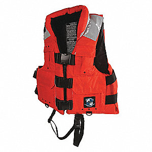 Search and Rescue Life Jacket, USCG Type III, Foam Flotation Material, Size: 4XL