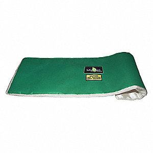 "1"" x 24"" x 24"" Ceramic Fiberglass Insulated Throw Blanket, PTFE Coated Fiberglass Cloth Jacket Mater"