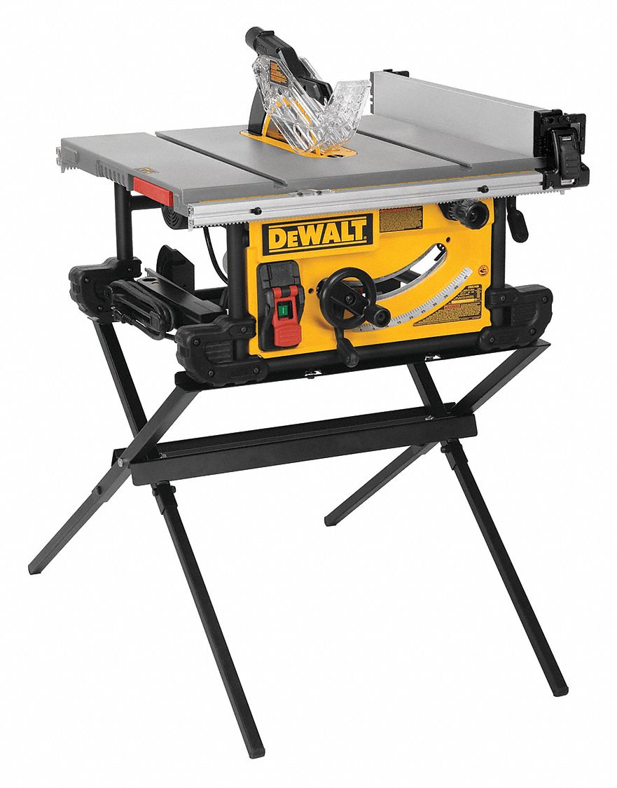 - DEWALT Table Saw, Folding Stand Type, 10