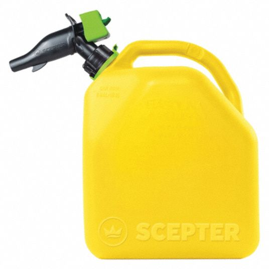 Diesel Fuel Can,  Polypropylene,  5 gal Capacity,  16 3/4 in Height,  11 17/32 in Length