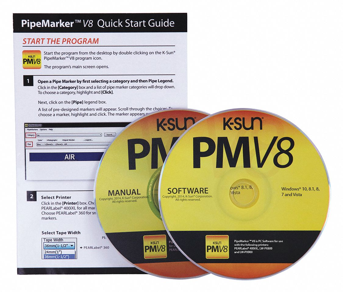 Pipe Marker Software CD, 1 EA