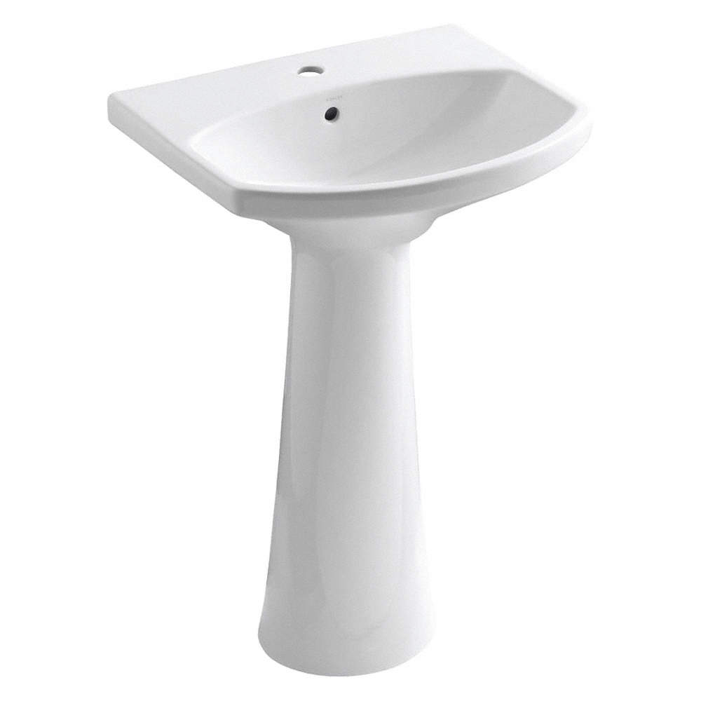 Vitreous China Pedestal Bathroom Sink