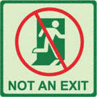 Square Not An Exit Signs