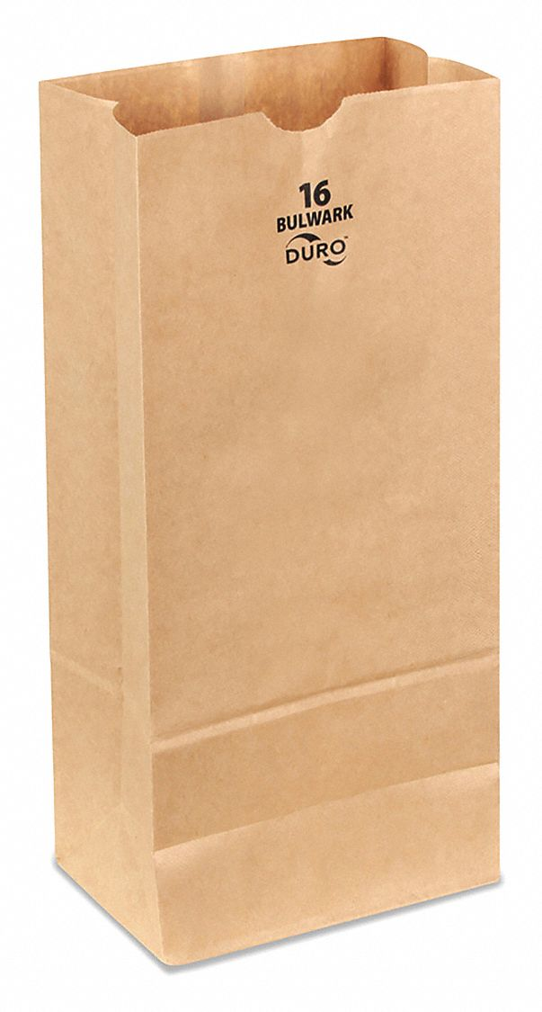 Self Opening Style (SOS) Bag,  Handle Type None,  Kraft,  Width 7 3/4 in,  Depth 4 7/8 in