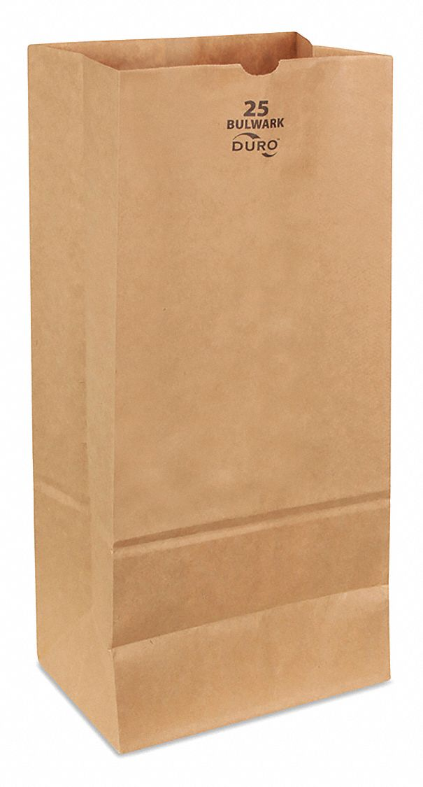 Self Opening Style (SOS) Bag,  Handle Type None,  Kraft,  Width 8 1/4 in,  Depth 5 1/4 in