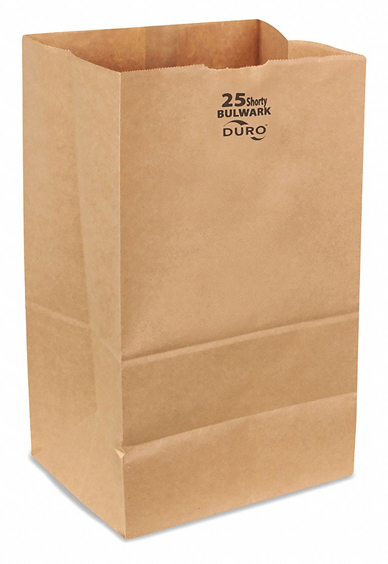 Self Opening Style (SOS) Bag,  Handle Type None,  Kraft,  Width 8 1/4 in,  Depth 6 1/8 in