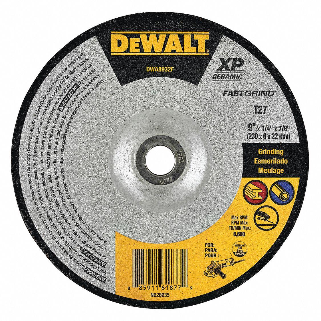 DEWALT DW8758 9-Inch by 3//32-Inch by 7//8-Inch Metal Notching Wheel